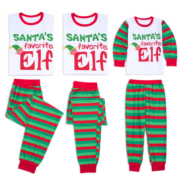 0d087835da Family Pajamas Christmas Santa Elf Matching Outfits Family Look Father  Mother Children s Pajamas Clothes Kids Christmas Clothing