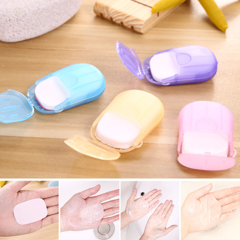 2 Box Portable Washing Slice Sheets Hand Bath Travel Scented Foaming Paper Soap