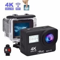 4K HD экшн-камера с сенсорным экраном wifi 16 МП Спортивная камера Allwinner 1080P Sport DV Go водонепроницаемый профессиональный шлем камера Дистанционное ...
