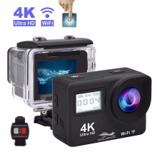 цены HD 4K Action Camera WIFI Touch Screen 16MP Sports Camera Allwinner 1080P Sport DV Go Waterproof Pro Helmet Camera remote control