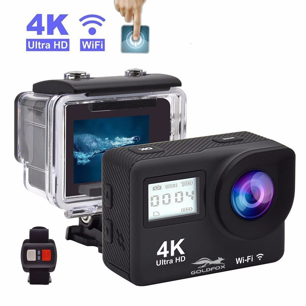 Touchscreen 4K HD Action Kamera Fernbedienung Allwinner Wifi 1080P Sport Kamera Gehen Wasserdicht Pro DV Auto helm Video Cam