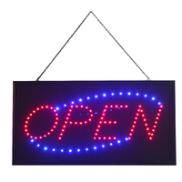 19x10 LED Open Shop Sign Neon Display Window Hanging Light,LED Sign Illuminated Sign