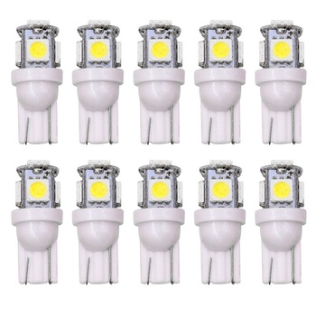 цена на Led Car DC 12v Lampada Light T10 5050 5 SMD Super White w5w T10 Led Parking Bulb Auto Wedge Clearance Lamp