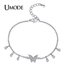 UMODE Trendy Fashion Butterfly Ladies Bracelets for Women Chain Link Bracelet Jewelry Gifts for Girls Patrulha Canina AUB0122B(China)
