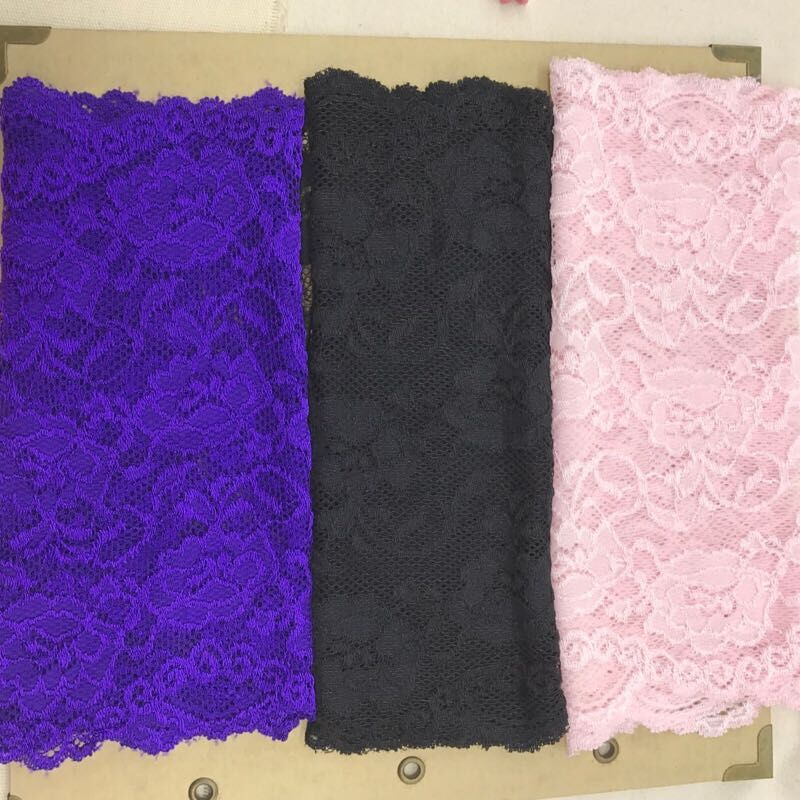 Cantik Lace Stretch Elastic Trim Ribbon Fabrik DIY Kraf Jahit Supplies Decoration Aksesori lebar: 19.5-22cm