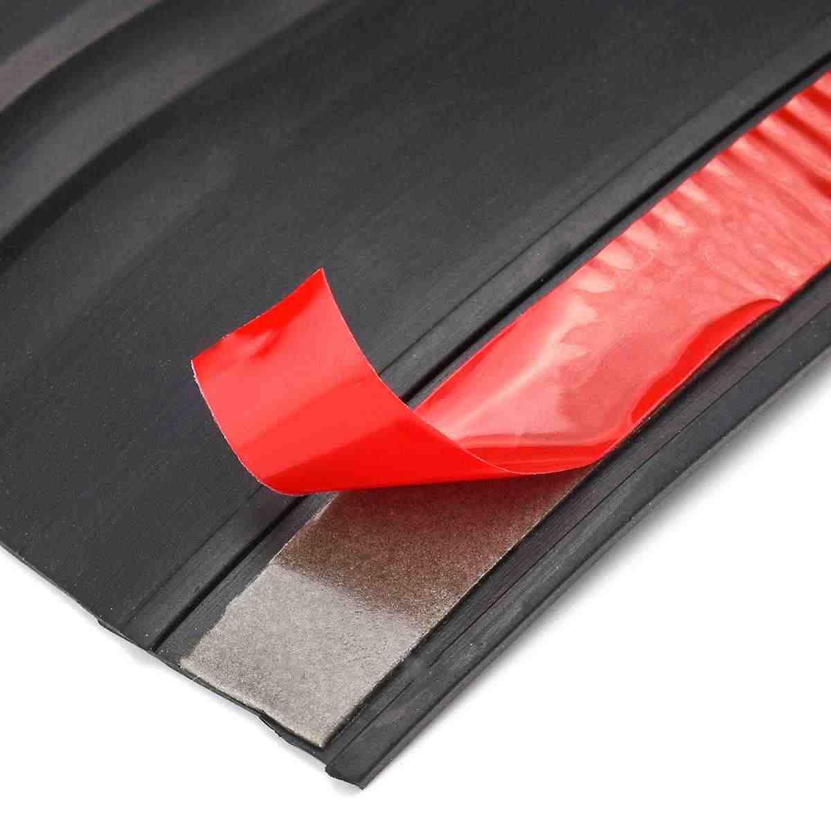 FSLLOVE FANGSHUILIN 170cm Car Rubber Rear Bumper Guard Protector Tailgate Seal Trim Cover Protection Universal