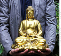 Special offer TOP collection Home Decor Religious Shakyamuni figure of Buddha Buddhism Brass Decoration