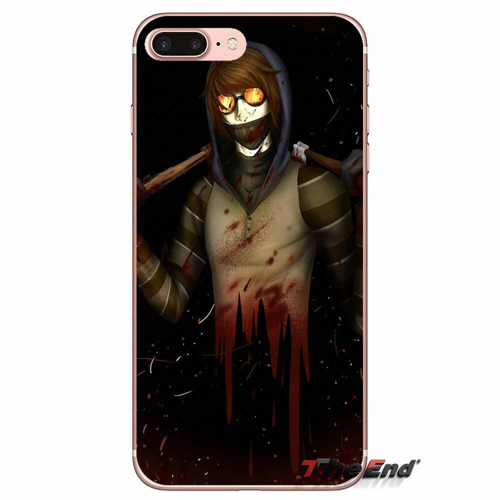 For iPhone X 4 4S 5 5S 5C SE 6 6S 7 8 Plus Samsung Galaxy J1 J3 J5 J7 A3 A5  2016 2017 Creepypasta Ticci Toby x reader Soft Case