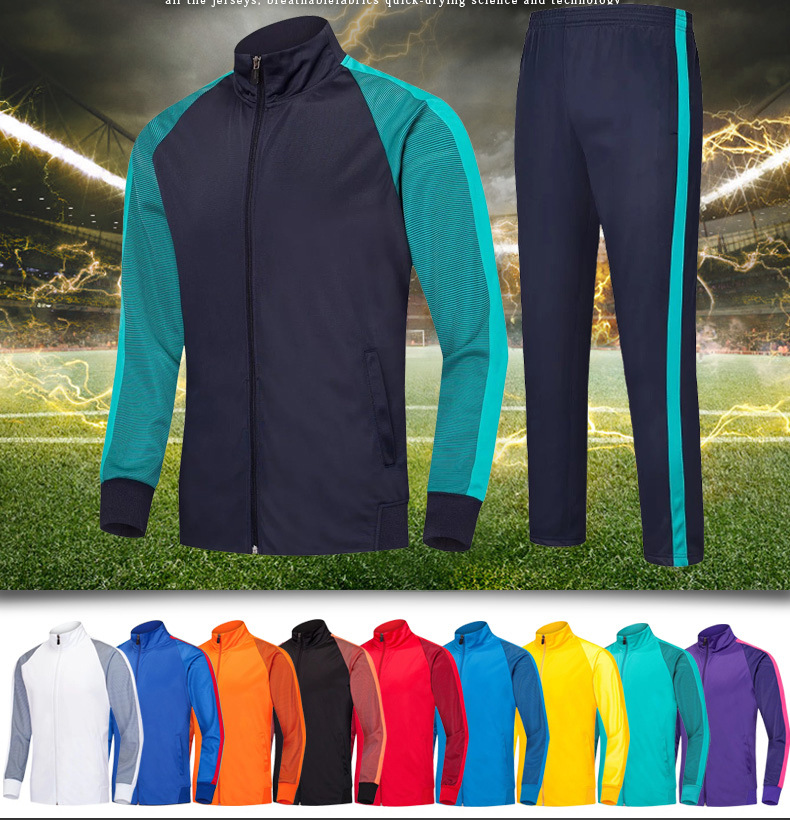 Full sleeve coat suits football Jersey Soccer jerseys , Training Football Running Tracksuits Suit , Sweatshirt soccer clothes