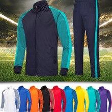 Пальто с длинными рукавами костюмы Футбол трикотаж Футбол Майки, обучение Футбол Running тренировочный костюм, толстовка одежда для футбола