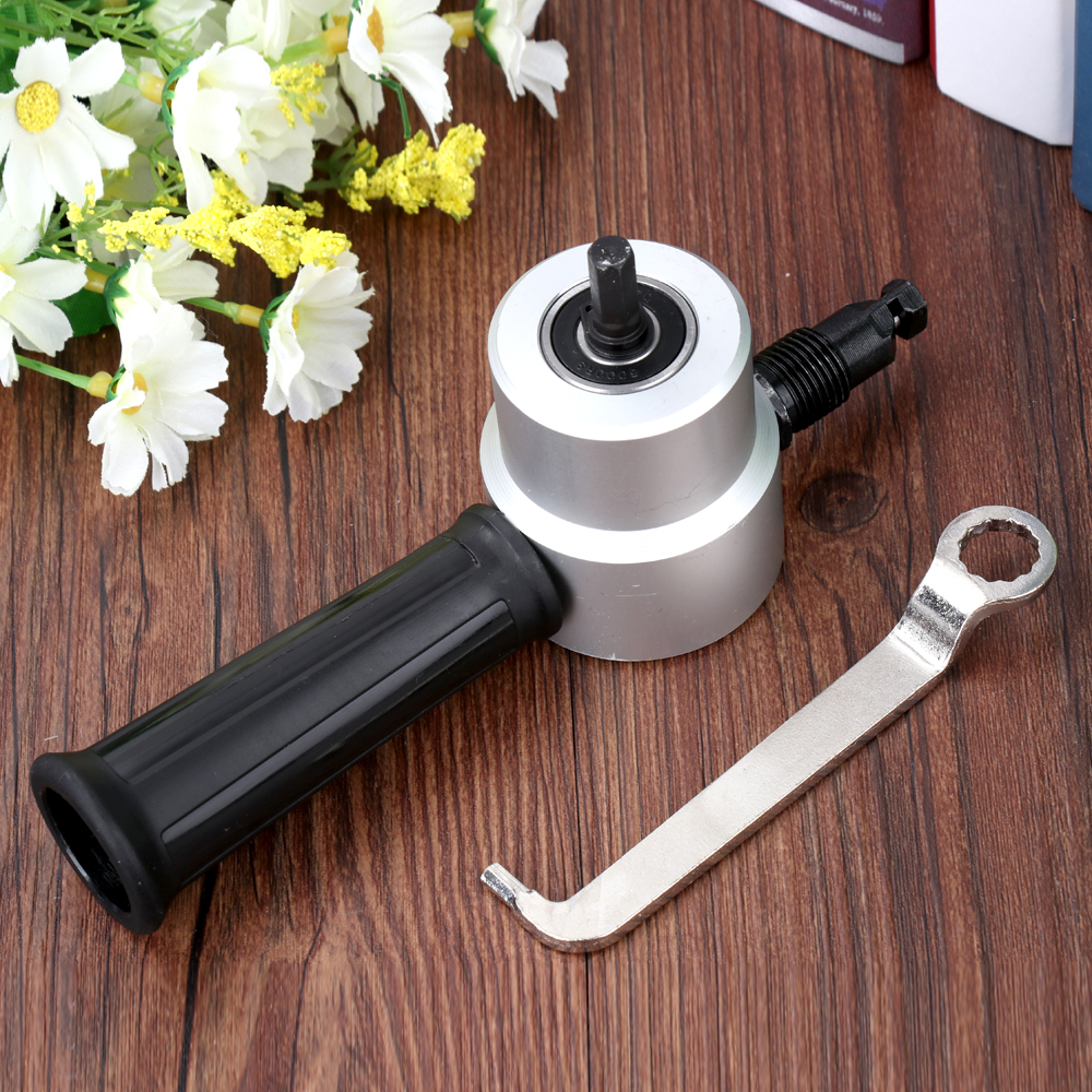 Knabbern Metall Schneiden Doppelkopfblatt Knabber Sah Cutter Werkzeug Bohraufsatz Freies Schneidwerkzeug Elektrowerkzeuge Mithelfer