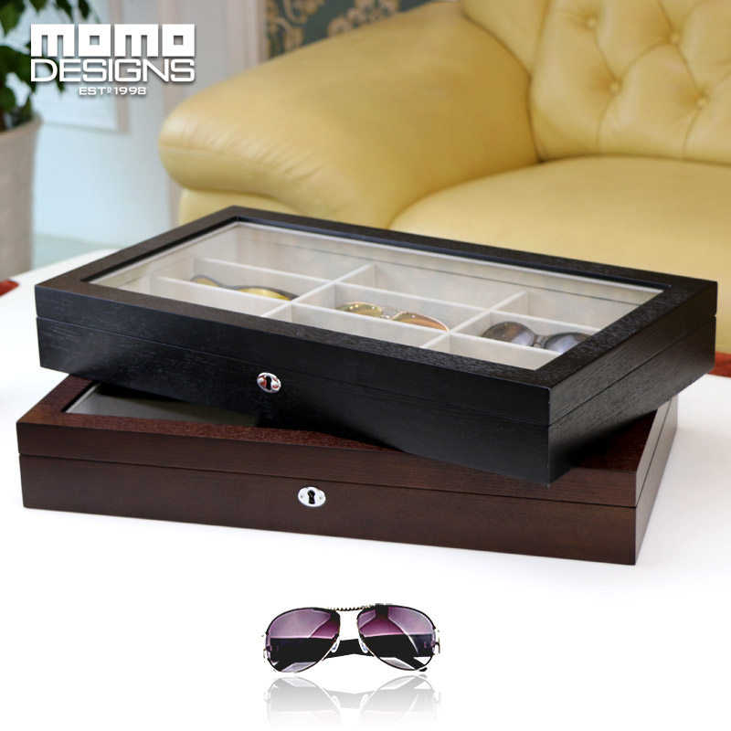 LUXURY 12 Sunglasses wooden box with window Women glasses storage box Sunglasses packing box men's gift аксессуар выносная кнопка espada eatxpower2key