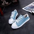 Обувь Женщина Весна и Осень Женщины Холст Кружева Круглые Плоские Туфли Скольжения На Комфорт Плоские Туфли Мокасины Zapatos Mujer Плюс размер 35-39