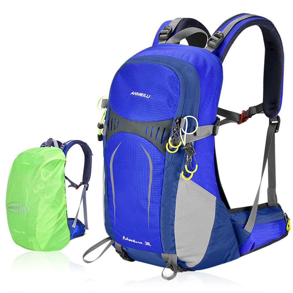 ANMEILU 30L Tactical Hiking Backpack with Internal Frame Waterproof Outdoor Sport Travel Bag Women Men Climbing