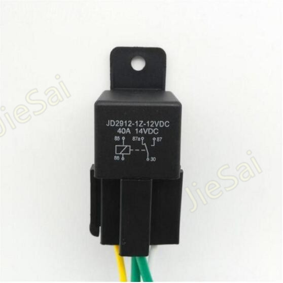 5 pin automotive relay 12v 40A auto relay with socket and wire for car alarm relay 2 sets automotive relays waterproof socket waterproof plugging relay socket 12v