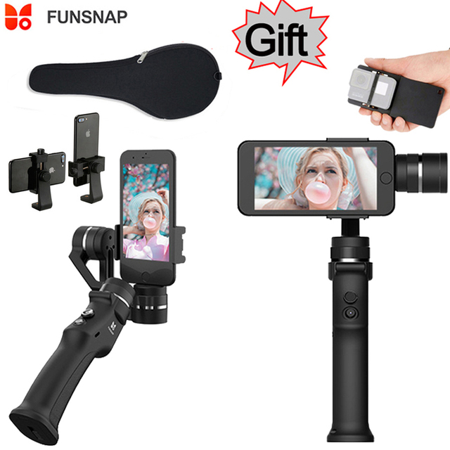 finest selection d78ac d6bb5 US $67.26 5% OFF|Funsnap Capture 3 axis Phone Handle Gimbal Stabilizer  steadicam for Smartphone iPhone X 8 VS Zhiyun Smooth 4 Feiyu Vimble 2 -in  ...