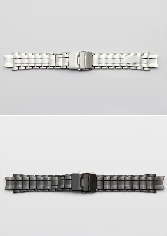 1d646fe860e9 De acero inoxidable correas para CASIO edificio EFX 500D relojes ...