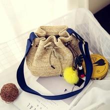 Women's Fashion Herbs Mini Handmade Shoulder Bag Summer Style Beach Bag Handbag Women's Brand Handbag