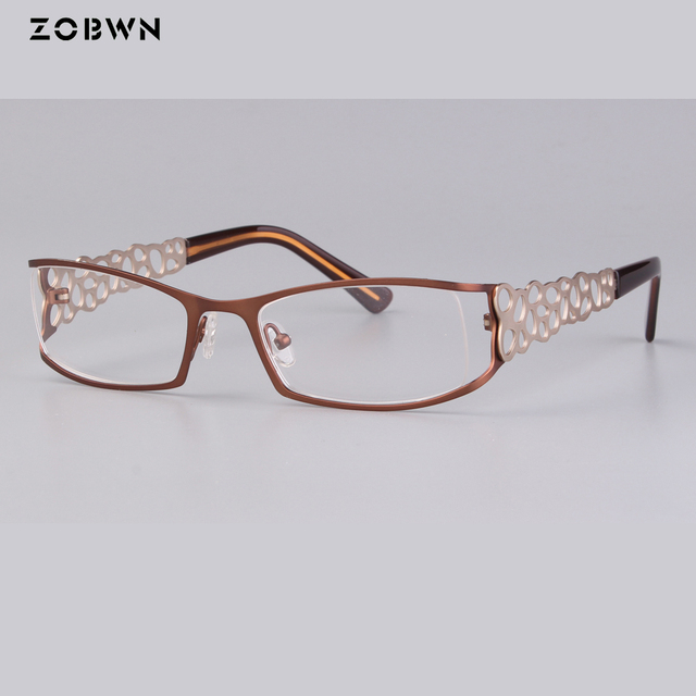 bb2d13cc09 Arrived 2018 New ladies Eyewear Glasses half rim Vintage Fashion eyeglasses  Women Men points Brand Designer oculos fake full rim