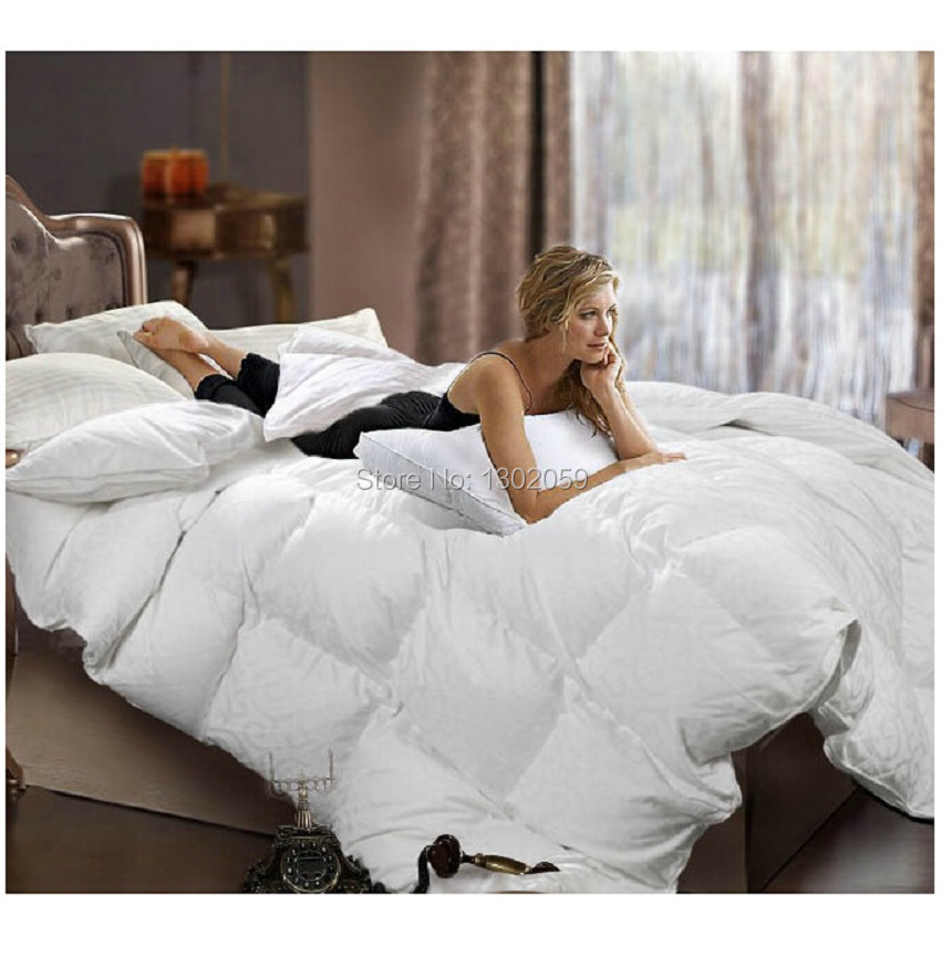 Image 4 - Winter 260 GSM Whites Goose Down Doona Blanket King Queen Full Twin Or Make Any Size Free Shippingtwin sizeblanket with sleeves kidsblanket pile -