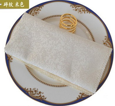 10 Pieces Wedding Table Napkins Pattern Table Napkin Linen Polyester Handkerchief Cloth Diner Wedding Decoration Party Event