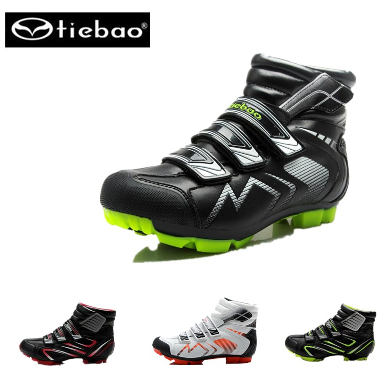 Tiebao Men MTB Bicycle Cycling Shoes Winter Windproof Warm Self-Locking High Ankle Boots Mountain Bike Racing Shoes sneakers 2017 new high grade cycling coat windproof bike bicycle clothing men