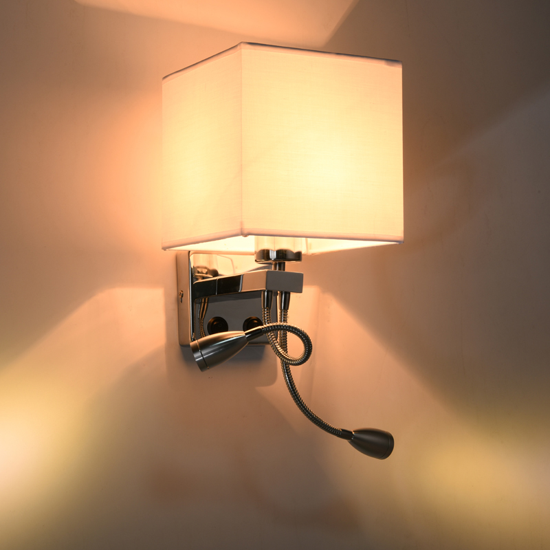 American wall lamp European style wall lamp bedside lamp simple modern hotel bedroom living room  CL