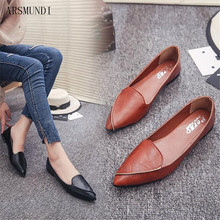 ARSMUNDI 2019 Women Fashion Spring Ladies Pointed Toe Flats Ballet Shallow Shoes Loafers Slip On Casual Shoes for women M335 ladies stud women slip on 2017 pointed toe brand red shallow designer suede flats beautiful shoes latest spring autumn fashion