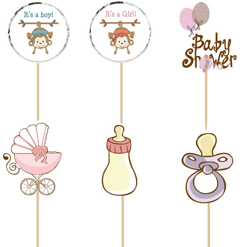 720pcs baby shower cake Topper Picks birthday party decorations kids evnent party favors Party supplies decoration