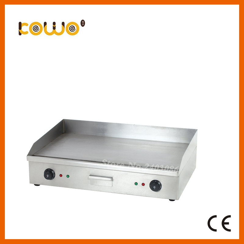 ce stainless steel 3kw electric teppanyaki griddle oven kitchen hot plate pancake grill flat plate food