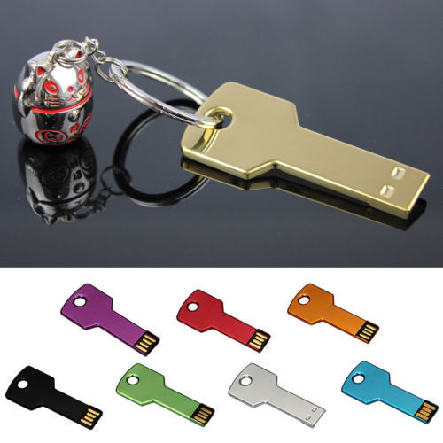 Custom LOGO Key Pen Drive  USB Flash Drive 128GB 64GB 32GB 16GB 8GB Pendrive Waterproof Memoria USB Memory Stick Free Shipping