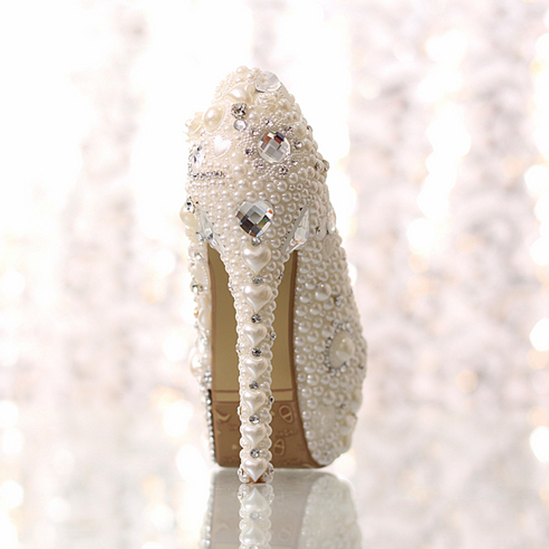 Robe Perles Pompes Sexy Haute Perlé Chaussures sur Femme Picture Embelli Pour De as Cristal Strass forme Slip Super Picture Blanc Plate Mariage As rU7UxqYw