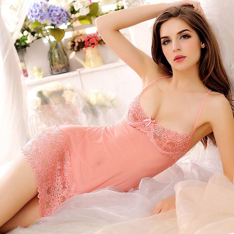 High Quality lenceria erotica Sexy Lingerie Costume  Lace Chemise Lenceria Women