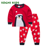 Christmas Gift Baby Boy Girl Clothing Set Children Pajama Nightwear For 2017 Brand Cartoon Clothes Toddler
