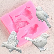 Sugarcraft Birds Silicone Mold Fondant Mold Cake Decorating Tools Candy Clay Chocolate Gumpaste Molds Resin Clay Soap Moulds cheap Cake Tools LFGB CE EU Stocked Eco-Friendly cake mold pink make chocolate candy jelly Fondant confeitaria Party Wedding Cake Decoration