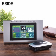 Home Wireless Weather Station With Forecast Temperature Humidity EU Plug Alarm and Snooze Thermometer Hygrometer Clock