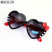 MOSILIN Sunglasses Kids Brand Designer Hello Kitty Fashion Flip Up Sun