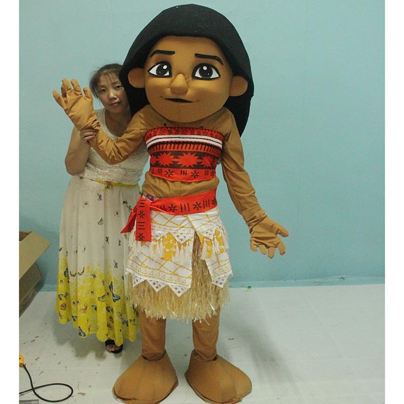 Moana Mascot Costume Fancy Party Dress Birthday Party Carnival Princess Dress Performance Props Outfit cartoon Halloween Costume