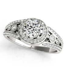 Brilliant Halo Center 1.25CT Lab Grown Diamond Ring Solid 9k Gold Jewelry White Gold Engagement Wedding Ring for Gift
