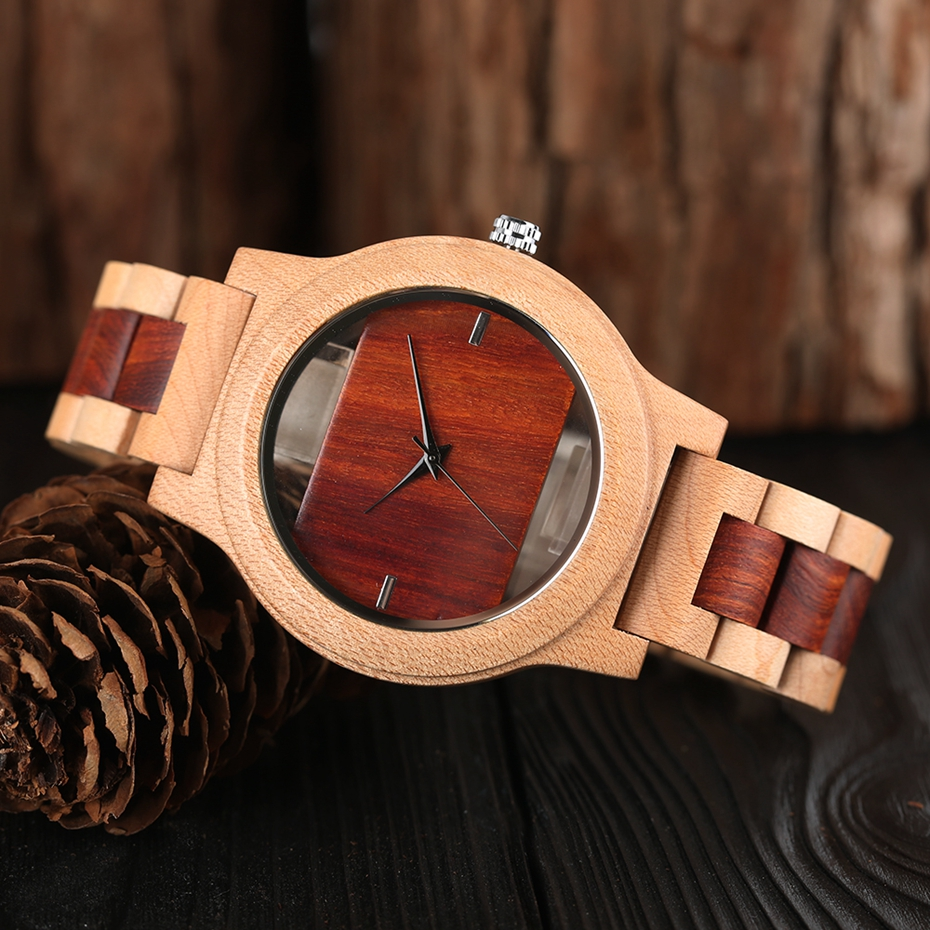 Top Luxury Full Bamboo Wood Quartz Watch Mens Hollow Analog Handmade Bracelet Sports Wristwatch Male Simple reloj de hombre 2017 2018 Gifts (22)