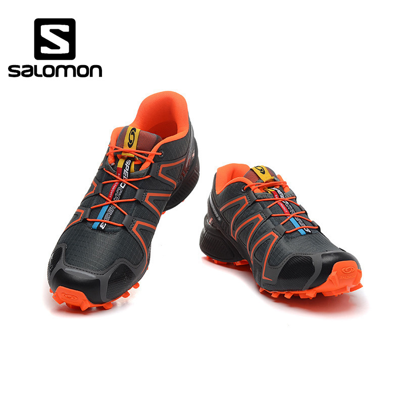 Salomon SpeedCross 3 CS III Men Professional Outdoor Running Shoes Male Flywire Athletic Sport Sneaker Speed Cross 3 Eur 40-46 isnom high heels women pumps 2018 spring fashion office ladies shoes pointed toe strange style genuine leather rivet footwear