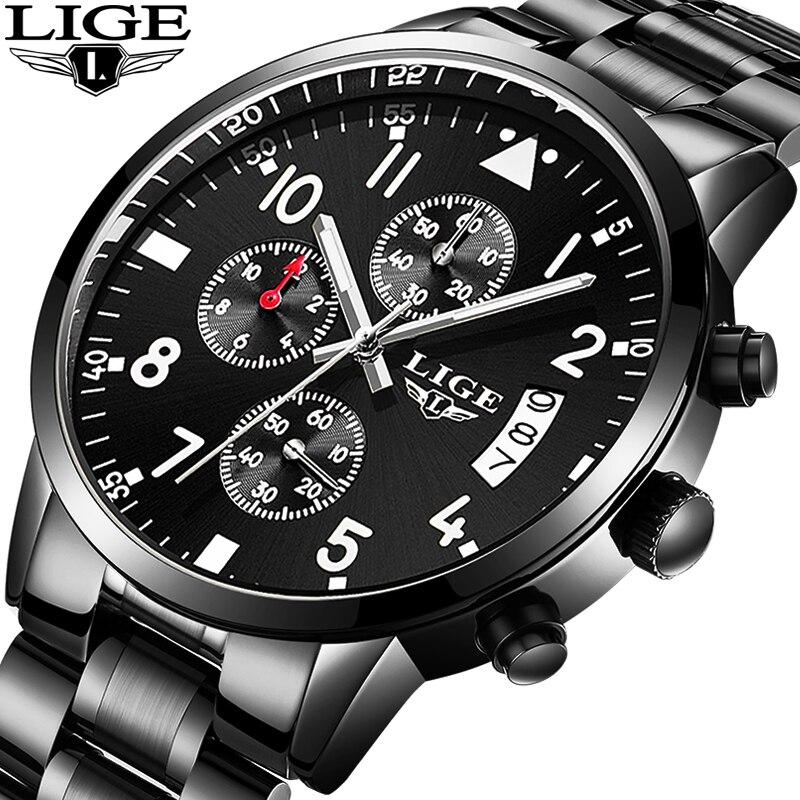 Comprare Relogio Masculino LIGE Mens Orologi Top Brand Di ...