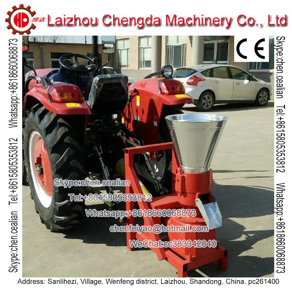 Free Shipping PTO Feed And Wood Pellet Mill Machinery Driven By Tractor