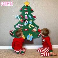 QIFU 2018 DIY Felt Christmas Tree Kids Favors Christmas Gift Christmas Decoration For Home Xmas Door