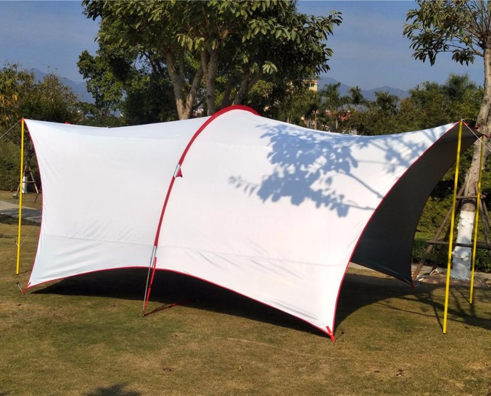 Ultralarge 5-8 personne utiliser Anti-UV tente de Camping étanche grand Gazebo abri soleil grande tente de plage auvent