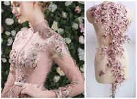 3D Blume Perlen Spitze Große Applique Patch Hochzeit Kleid DIY Dekorative Zubehör Nähen RS725
