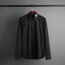 2017 Classic men long sleeve men's shirts and high-end business no-iron shirt S25