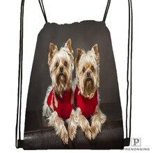 Custom Classic Yorkshire Terrier Drawstring Backpack Bag Cute Daypack Kids Satchel (Black Back) 31x40cm#180531-02-28