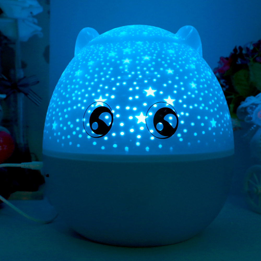 2017 Newest 5in1 Bluetooth Lovely Pig Shape LED Starry Rotating Projection Light Star Ma ...