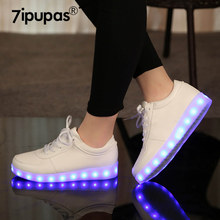 Led Slippers USB illuminated krasovki luminous sneakers glowing kids shoes children with light Sole sneakers for girls&boys(China)